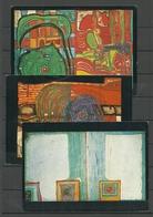 Germany 1995 - 3 Postkarten Art Kunst Gesendet Aus Deutschland 1999, Mit Briefmarken - Paintings