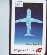 Télécarte  JAPON * VIRGIN ATLANTIC  (2454) * AVIATION * AIRLINE Phonecard  JAPAN AIRPLANE * FLUGZEUG - Airplanes