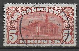 DANEMARK - 1912 - YVERT N° 68 OBLITERE FILIGRANE COURONNE - COTE = 180 EUR. - Used Stamps