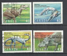 CANADA 1993 - PREHISTORIC ANIMALS - CPL. SET - USED OBLITERE GESTEMPELT USADO - Prehistorics