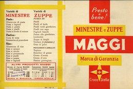 126  MINESTRE E ZUPPE MAGGI PRIMI ANNI 50 CATALOGO - Italia