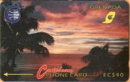 Grenada - GPT, GRE-3B, Sunset, 3CGRB, 20 EC$, 18,500ex, 1991, Used As Scan - Grenada