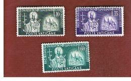 VATICANO (VATICAN) -  UNIF. 192.194 -  1955  12^ CENTENARIO DI SAN BONIFACIO (SERIE COMPLETA DI 3)  -  MINT** - Vaticano (Ciudad Del)