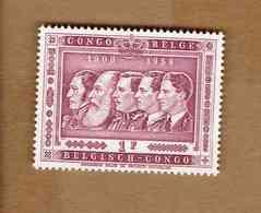 Congo Belge: OBP-COB.  1958 - N°344. *CINQUANTENAIRE DU CONGO BELGE. LES CIQ ROIS DES BELGES*     1F  Neuf*  . - 1947-60: Neufs