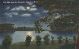 North Carolina High Point City Lake By Moonlight Curteich