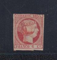 EDIFIL 17 (*).  6 CU ROSA ISABEL II. - 1850-68 Royaume: Isabelle II