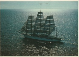 NAVI VELIERI D'EPOCA THE LEGENDARY S. Y. SEA CLOUD GUATEMALA VIAGGIATA ANNO 1986 - Voiliers