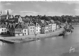 """¤¤   -  AURAY   -    Saint-Goustan Et La Rivière Le Loch  -  Bateaux De Commerce """" M.F. 5 """" -  Buvette Du Quai   -   ¤¤ - Auray"""