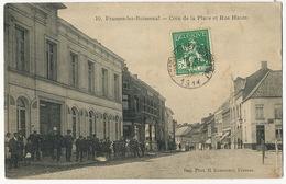 Frasnes Les Buissenal Coin De La Place Et Rue Haute  Edit Rasseneur Envoi à Aulnay Sous Bois - Frasnes-lez-Anvaing