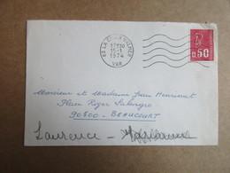 Enveloppe Ancienne -  Oblitération - La Croix Valmer - Postmark Collection (Covers)