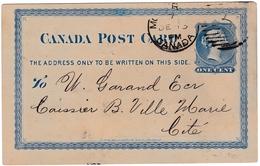 Montreal 1881 Canada Michel Lefebvre & Cie Pure Vineyards & Methylated Spirits Vin Alcool Victoria One Cent - 1860-1899 Regering Van Victoria