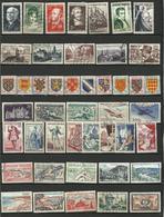 Années 1950-1959, Lot De Plus De 130 Timbres à étudier - 3 Scans - France