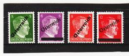 LVT637 ÖSTERREICH 1945 Michl 660/63 ANK 660/63 I. WIENER AUSHILSAUSGABE  ** Postfrisch SIEHE ABBILDUNG - 1945-.... 2ème République