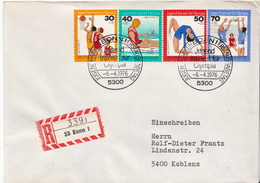 Postal History Cover: Germany Olympic Games Set On Registered Cover - Summer 1976: Montreal
