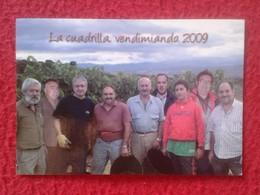 ANTIGUO OLD CALENDARIO CALENDAR DE BOLSILLO MANO 2010 LA CUADRILLA VENDIMIANDO VENDIMIA VENDANGE UVA VID RAISIN GRAPE - Tamaño Pequeño : 2001-...
