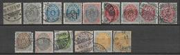 DANEMARK - 1875 - YVERT N° 22/29 A+B  OBLITERES (MANQUENT 26 (B) + 27 (B) + 28(B)) - COTE = 290 EUR. - 1864-04 (Christian IX)