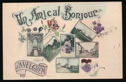 AVELGEM    ==  UNE AMICAL BONJOUR D'AVELGHEM   1918 VERZONDEN - Avelgem