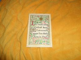 CARTE ROUSSEL GRAVEUR ROUEN. / PROVERBE ENLUMINE.../ LES VRAIS AMIS SE REVELENT.....DATE ?.. - Philosophie & Pensées