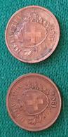 Coins 1 Rappen 1904 E 1937 Svizzera - Schweiz