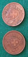 Coins 1 Rappen 1904 E 1937 Svizzera - Switzerland
