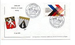 OBLITERATION JUMELAGE MERING-AMBERIEU EN BUGEY 1973 - Storia Postale