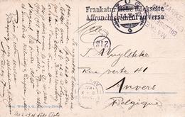 Carte Postale Suisse Zoug Zug 1920 Lago Di Lugano Anvers Antwerpen Belgique - Lettres & Documents