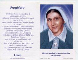 Santino Depliant SERVA DI DIO MADRE MARIA CARMEN RENDILES - PERFETTO P82 - Religione & Esoterismo