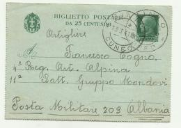 BIGLIETTO POSTALE DA 25 CENTESIMI 1941 - 4. 1944-45 Repubblica Sociale