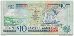 EAST CARIBBEAN STATES P. 52b 10 D 2015 UNC - Caraïbes Orientales