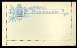 ONBESCHREVEN POSTBLAD VOORDRUK  Nvph 35 5 CENT MET OPDRUK 3 CENT  Uit 1891 (11.447d) - Ganzsachen