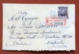 STATI UNITI  13 C. SU RACCOMANDATA DA NEW YORK A NAPOLI IN DATA 29/11/1905 - Francobolli