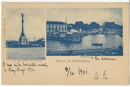 Hilsen Fra Kobenhavn  P. Used 1901 - Denmark