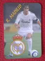 ANTIGUO CALENDARIO OLD CALENDAR DE BOLSILLO MANO 2006 SOCCER FÚTBOL FOOTBALL RAÚL GONZÁLEZ PLAYER REAL MADRID SPAIN VER - Tamaño Pequeño : 2001-...