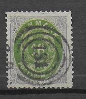 DANEMARK - 1870 - YVERT N° 20 OBLITERE TB SIGNE - COTE = 220 EUR. - 1864-04 (Christian IX)