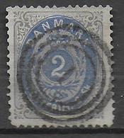 DANEMARK - 1870 - YVERT N° 16 OBLITERE TB  - COTE = 35 EUR. - 1864-04 (Christian IX)