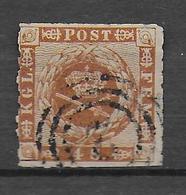 DANEMARK - 1858 - YVERT N° 10 OBLITERE - COTE = 22.5 EUR. - 1851-63 (Frederik VII)