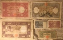 Lotto 6 Pezzi - 50 Lire 1944 - 500 Lire  1000 M Grande +  Regine 1943/1946 - 1000 Lire