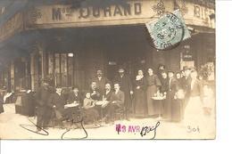 SEINE  PARIS CARTE PHOTO DEVANTURE CAFE DURAND ECRITE CIRCULEE ANIMEE - Cafés, Hôtels, Restaurants