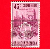 VENEZUELA - Usato - 1951 - Stemma Dello Stato Di Carabobo - Arms - 45 - P. Aerea - Venezuela