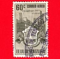 VENEZUELA - Usato - 1951 - Stemma Dello Stato Di Carabobo - Arms - 60 - P. Aerea - Venezuela