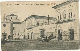Evora Camara Municipal E Quartel De Artilheria Un Coin Pli - Evora