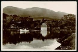 Ref 1235 - Early Real Photo Postcard - Rowing Boat Brickeen Bridge Killarney - County Kerry Ireland Eire - Kerry
