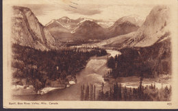 Canada PPC Postal Stationery Ganzsache Entier 2c. GV. Banff, Bow River Valley, BANFF Alberta 1937 (2 Scans) - 1903-1954 De Koningen