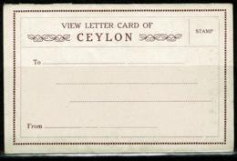 Ref 1235 - Early Letter Card - Ceylon Sri Lanka - Sri Lanka (Ceylon)