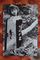 Nicaragua Libre - Children - Little Girl- Flag  / Old Postcard - Nicaragua