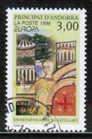 CEPT 1996 AD FR MI 497 ANDORRA FRANCE USED - Europa-CEPT