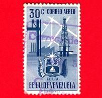 VENEZUELA - Usato - 1951 - Stemma Dello Stato Di Zulia - Arms - 30 - P. Aerea - Venezuela