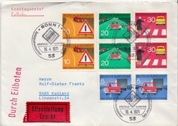Postal History Cover: Germany Road Safety Sets On Cover - Accidents & Road Safety