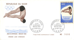 NATATION PLONGEON 1ER JOUR NIGER 1968 - High Diving