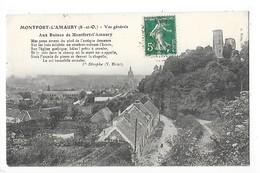 MONTFORT L'AMAURY  (cpa 78)  Vue Générale - Aux Ruines De Montfort Poème De V.Hugo   - L 1 - Montfort L'Amaury